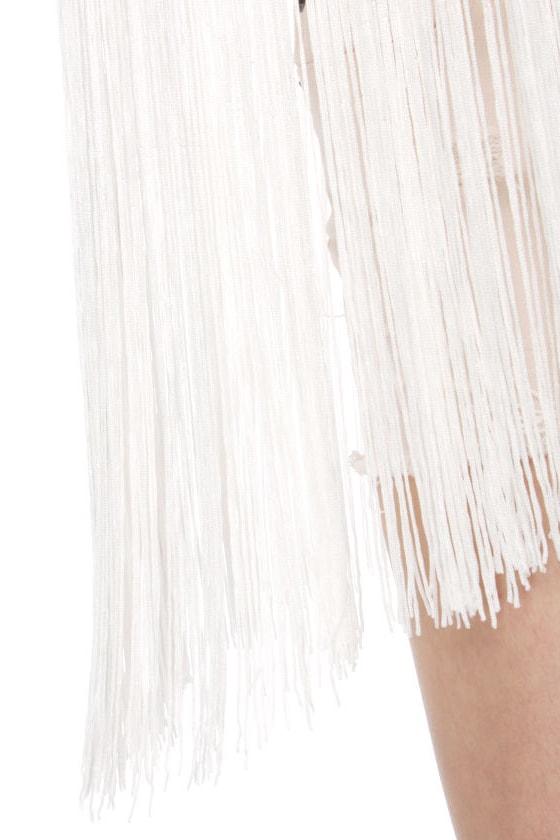 Blaque Label Cher's Choice Ivory Fringe Top