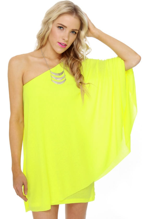 Buy neon yellow dress