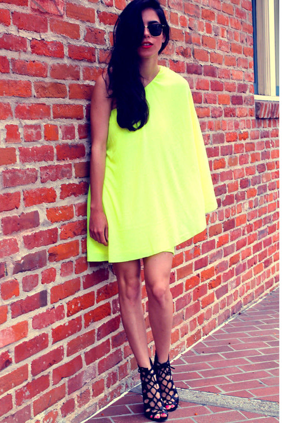 Leaves of Sass Neon Yellow Dress at Lulus.com!