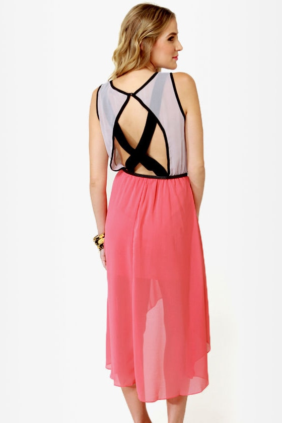 What\\\\\\\'s Trending High-Low Backless Dress