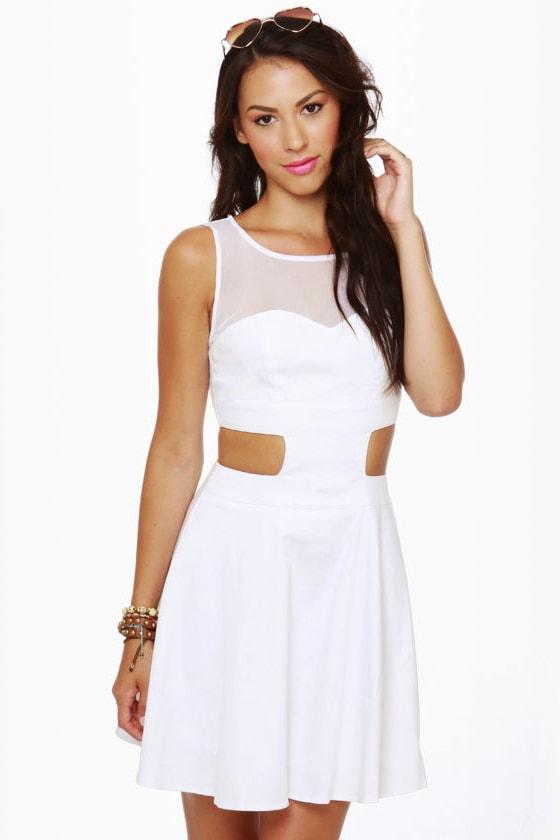 Cute White Dress - Tank Dress - Backless Dress - $43.00