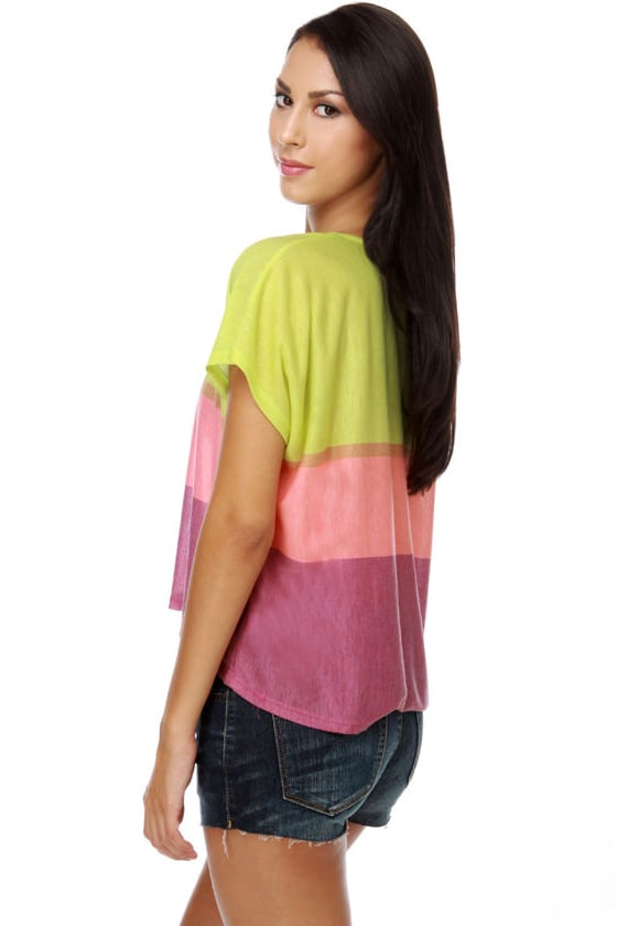 WkShp Neon Color Block Top