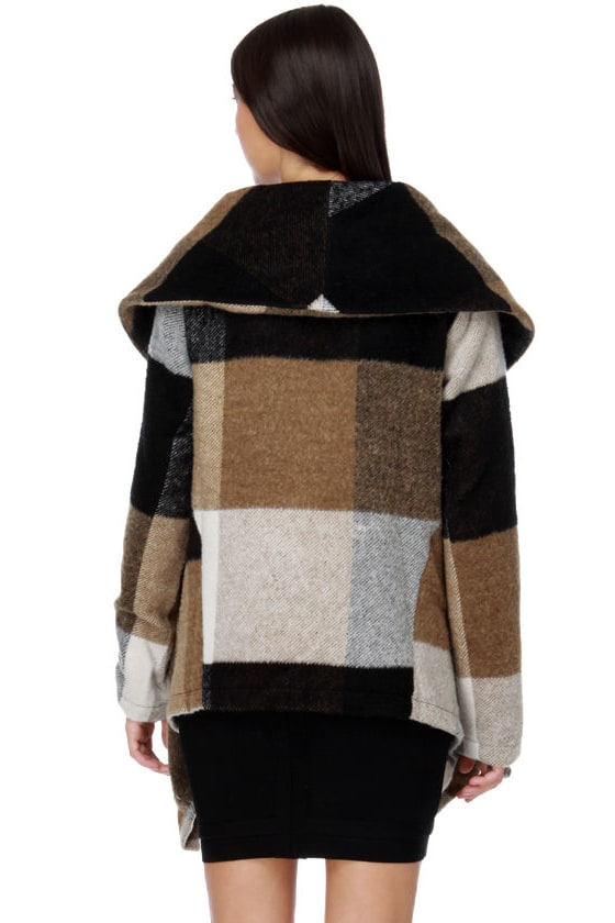Costa Blanca Toasted Marshmallow Plaid Jacket
