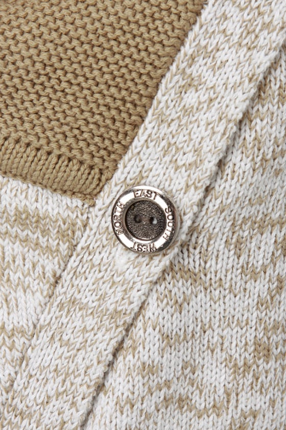 Costa Blanca Desert Highway Beige Cowl Neck Sweater