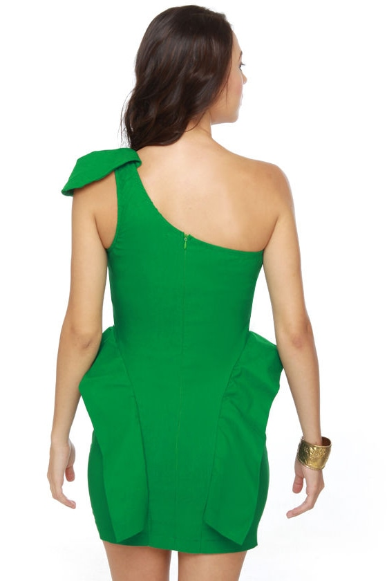 Marry the Night One Shoulder Green Dress