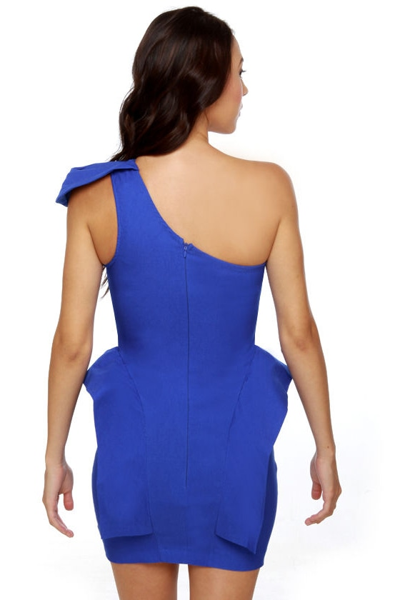 Marry the Night One Shoulder Blue Dress at Lulus.com!