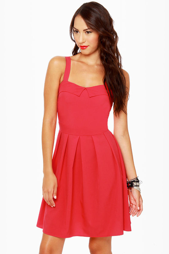 Girlfriend Material Red Dress at Lulus.com!