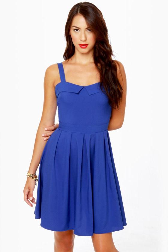Girlfriend Material Cobalt Blue Dress at Lulus.com!