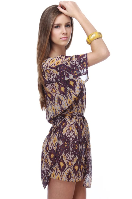 Collective Concepts South of Santa Fe Print Dress