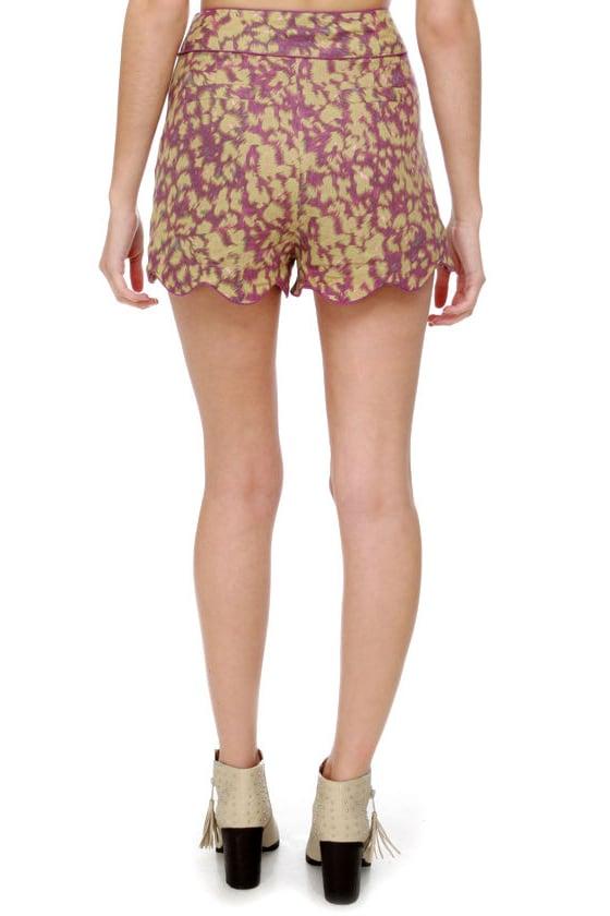 Darling Sinead Purple Print Shorts