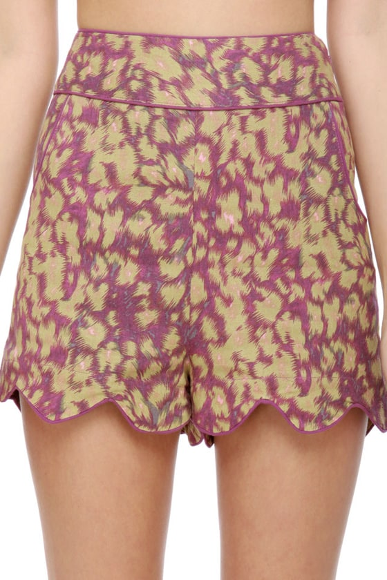 Darling Sinead Purple Print Shorts