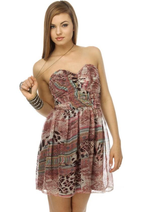 Dune Dancer Print Pink Dress