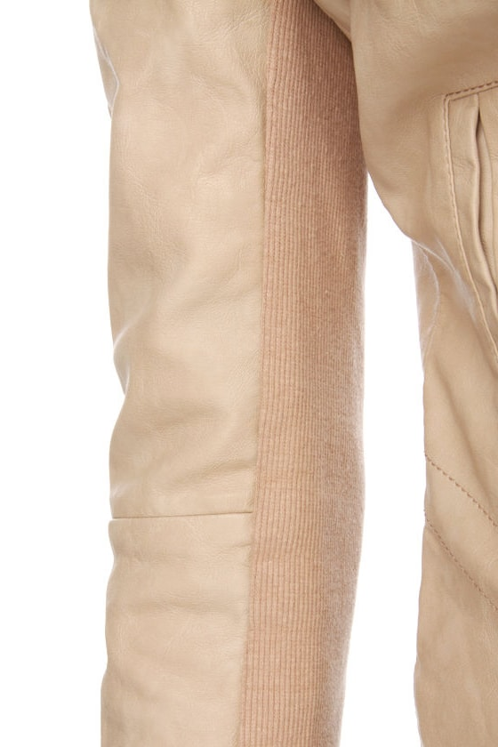 Sandra Dee Blush Pink Vegan Leather Jacket