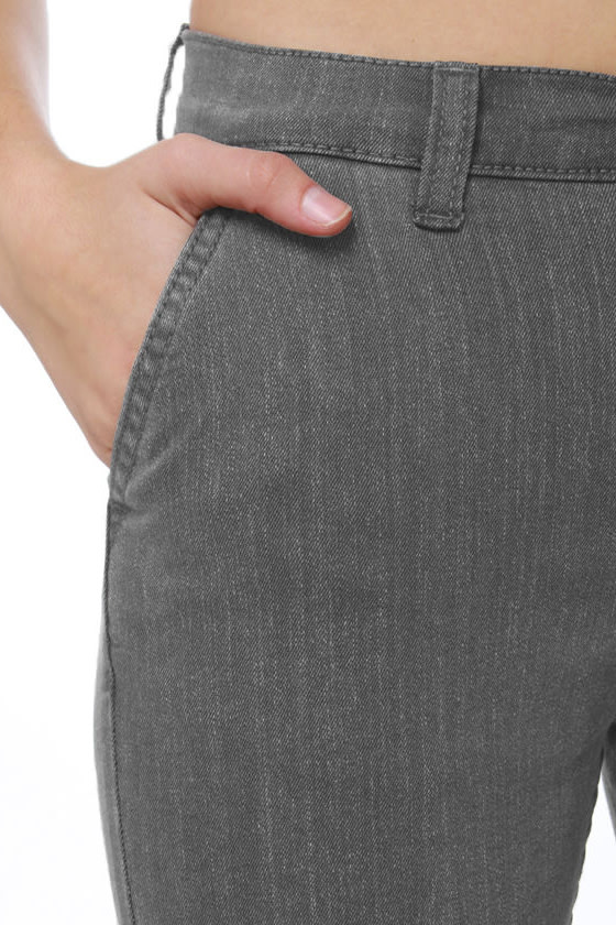 Cheap Monday Ankle Chino Grey Skinny Jeans at Lulus.com!