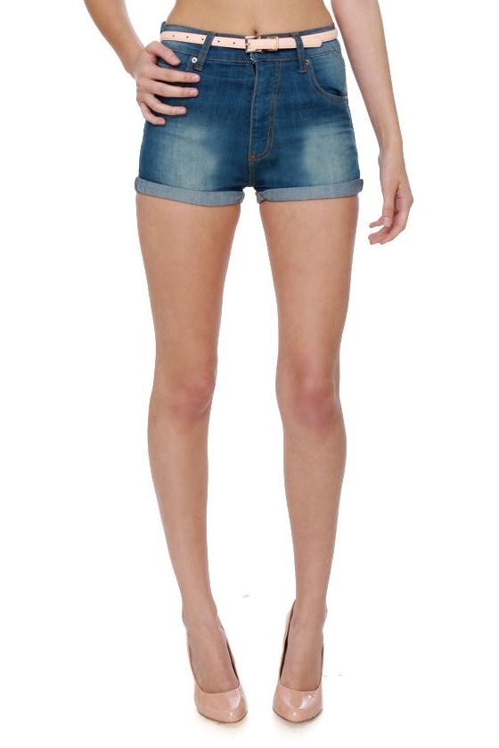 Cheap Monday Short Skin High-Waisted Jean Shorts