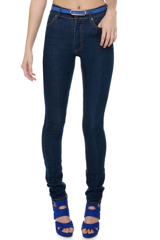 Cheap Monday Second Skin High-Waisted Skinny Jeans