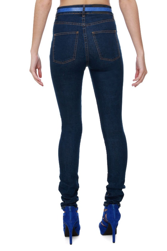 Cheap Monday Second Skin High-Waisted Skinny Jeans at Lulus.com!
