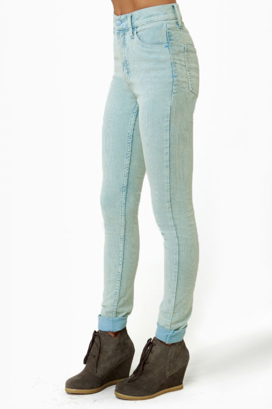 Cheap Monday Second Skin Blue Corduroy Skinny Pants at Lulus.com!