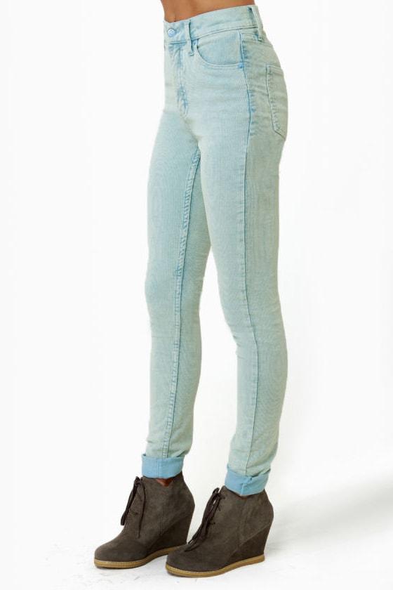 Cheap Monday Second Skin Blue Corduroy Skinny Pants