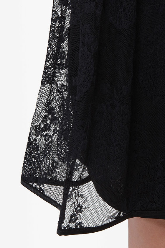...And Everything Nice Black Lace Dress at Lulus.com!