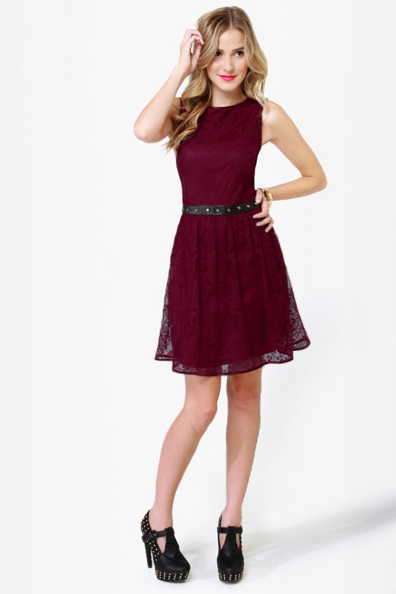 ...And Everything Nice Burgundy Lace Dress