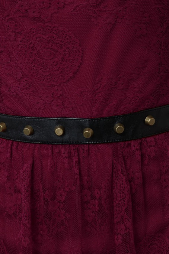 ...And Everything Nice Burgundy Lace Dress at Lulus.com!