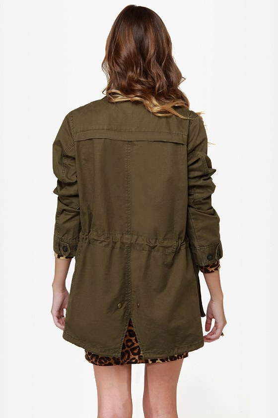 First Lieutenant Army Green Military Jacket