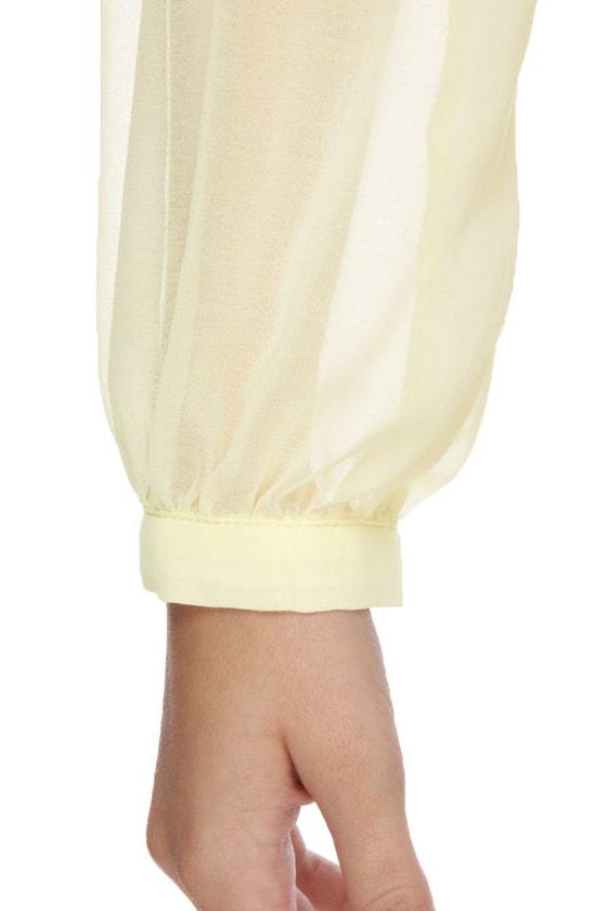 Enchanted Spirit Long Sleeve Cream Top