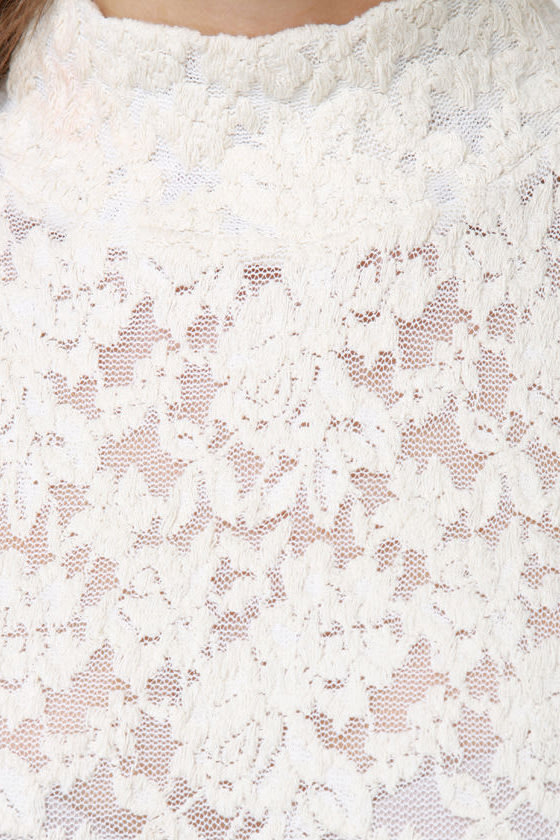 Magnolia Monday Cream Lace Top at Lulus.com!
