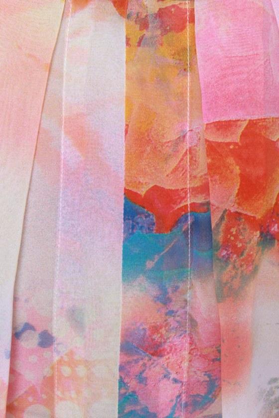 Lotus Sutra Sheer Print Top