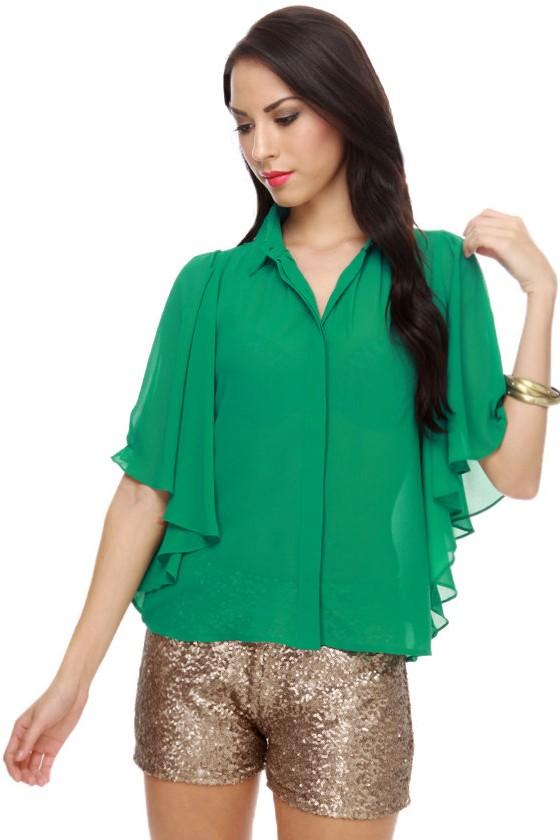 Peter Pan's Sister Green Top