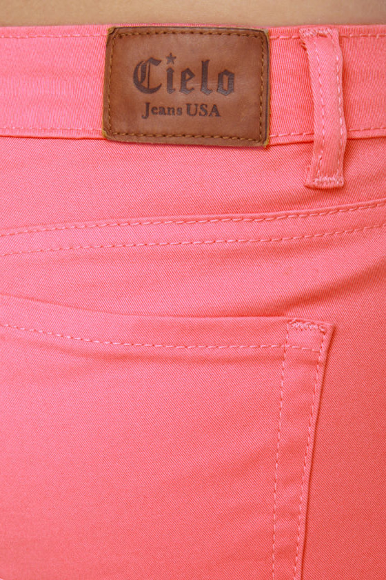 Moves Like Jagger Coral Pink Jeggings