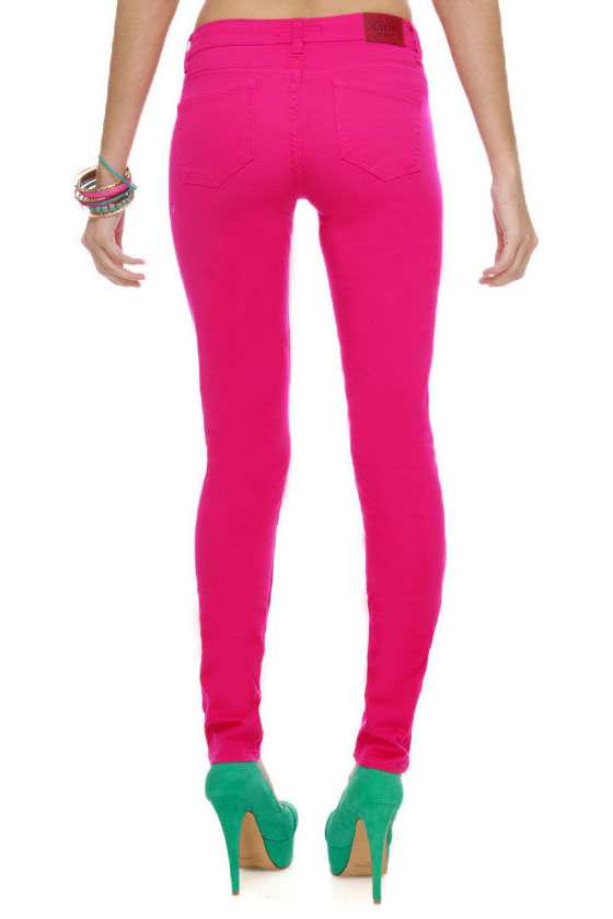 Moves Like Jagger Fuchsia Pink Jeggings