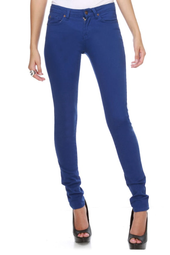 Moves Like Jagger Royal Blue Jeggings at Lulus.com!