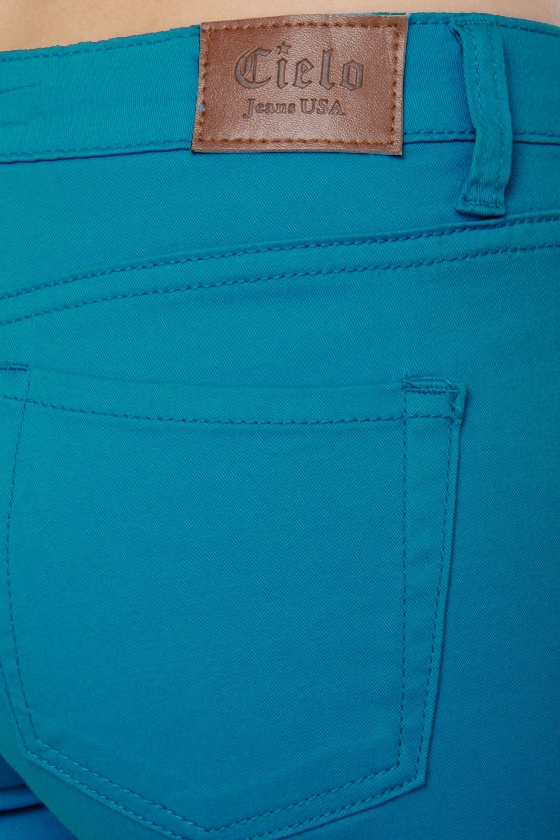 Moves Like Jagger Aqua Blue Jeggings at Lulus.com!