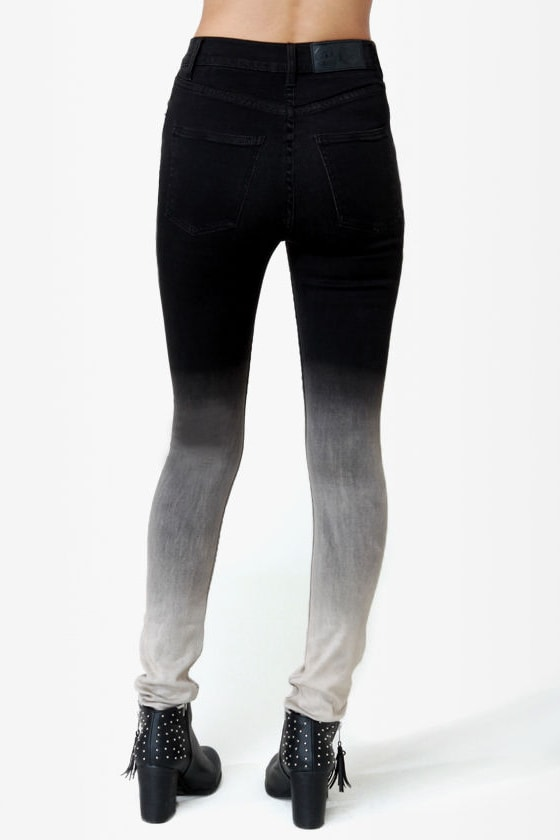Cheap Monday Second Skin Jeans - Ombre Jeans - Skinny Jeans - $78.00