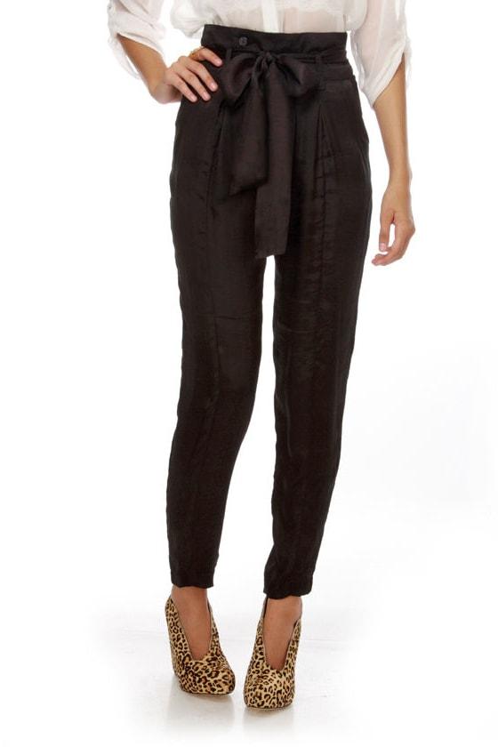 Dapper Affair High Waisted Black Pants