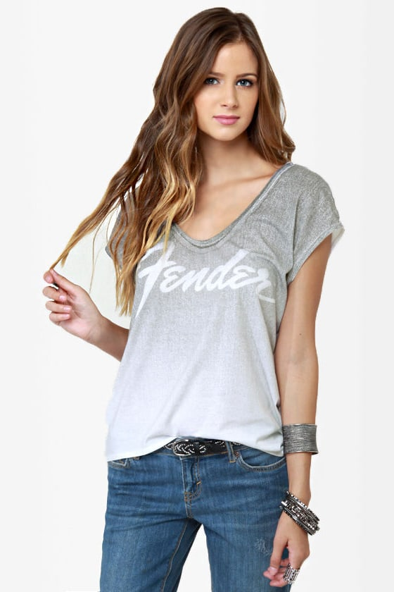 Chaser Fender White Print Tee at Lulus.com!