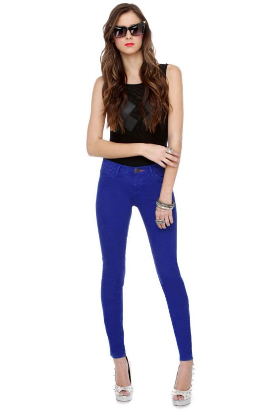 Dittos Dawn High Rise Royal Blue Skinny Jeans