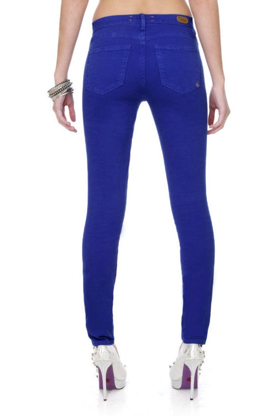 Dittos Dawn Royal Blue Jeans - Skinny Jeans - High Rise Jeans - $79.00