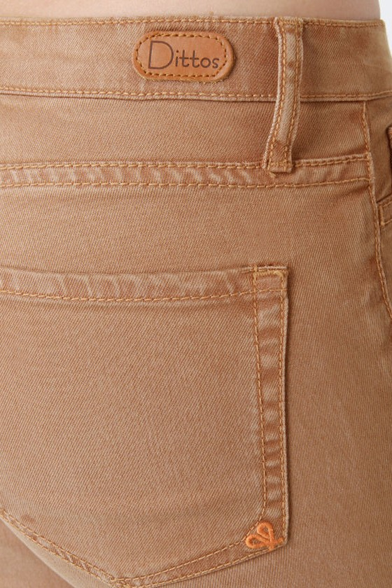 Dittos Jessica Mid-Rise Nutmeg Brown Jeggings at Lulus.com!