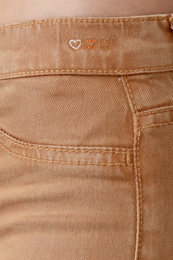 Dittos Jessica Mid-Rise Nutmeg Brown Jeggings