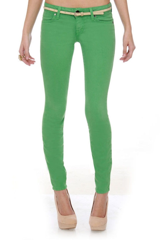 Level 99 Janice Ultra Skinny Green Jeggings