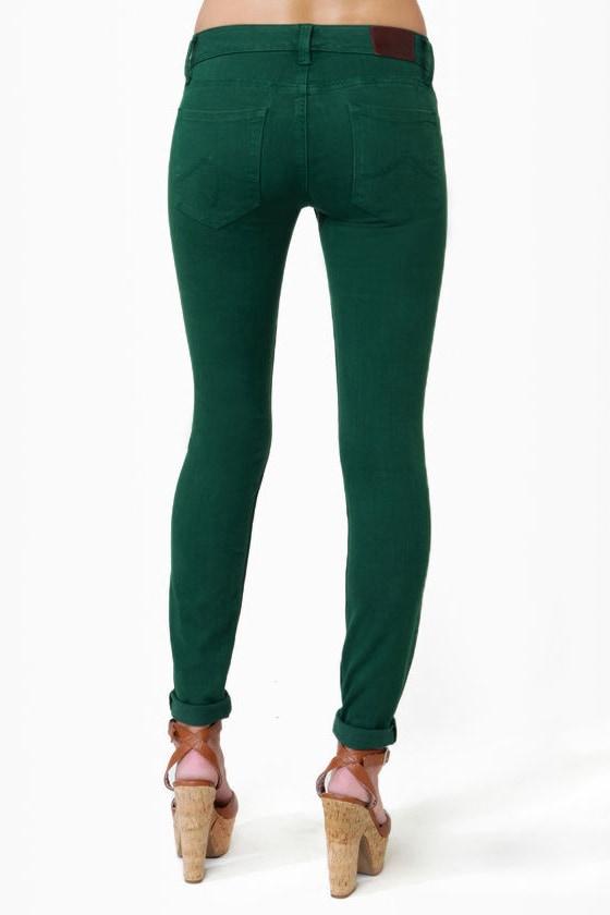 Level 99 Janice Ultra Skinny Emerald Green Jeggings