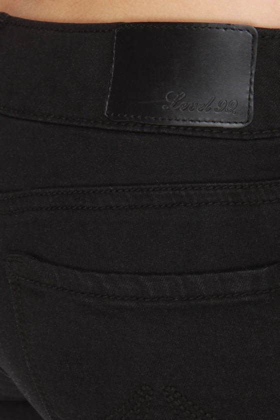 Level 99 Lily Black Skinny Jeans