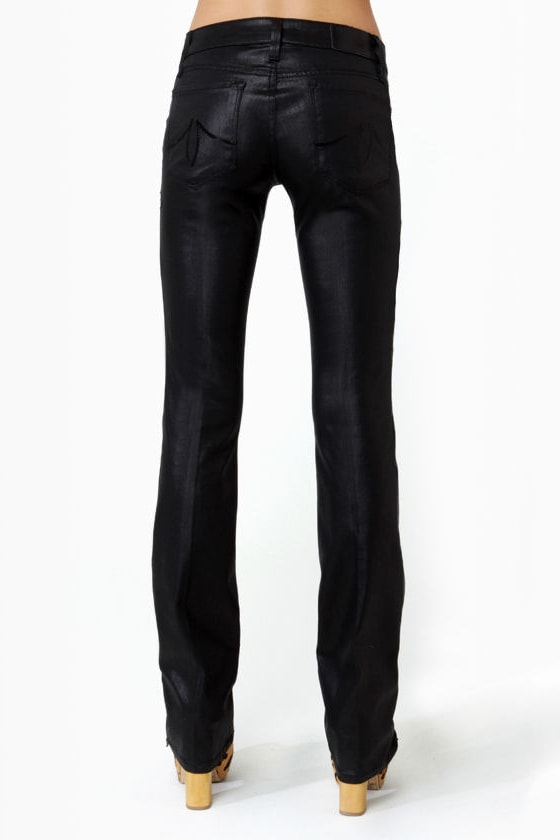 Level 99 Sash Slim Boot Cut Black Jeggings at Lulus.com!