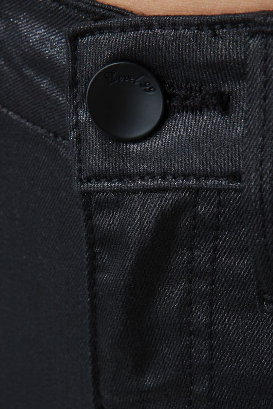 Level 99 Sash Slim Boot Cut Black Jeggings