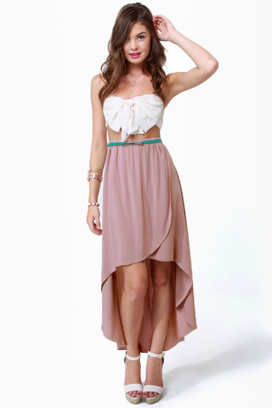 Harold and Mauve High-Low Skirt