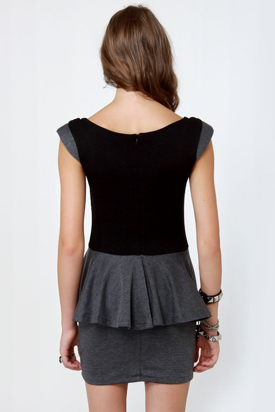 Marian Black and Grey Dress