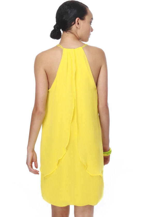 Butterfly Kisses Yellow Dress